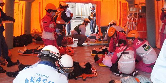 集団災害対応訓練