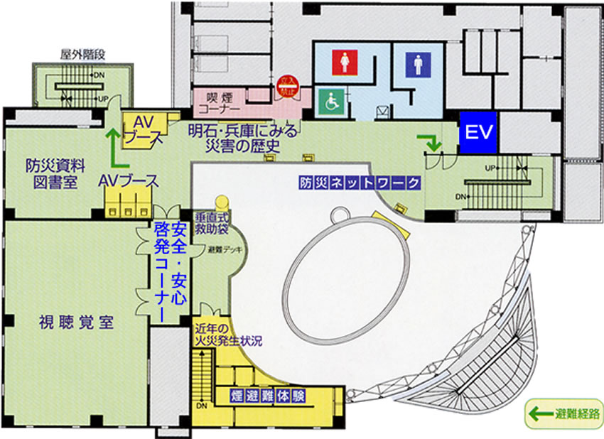 明石市防災センター2階